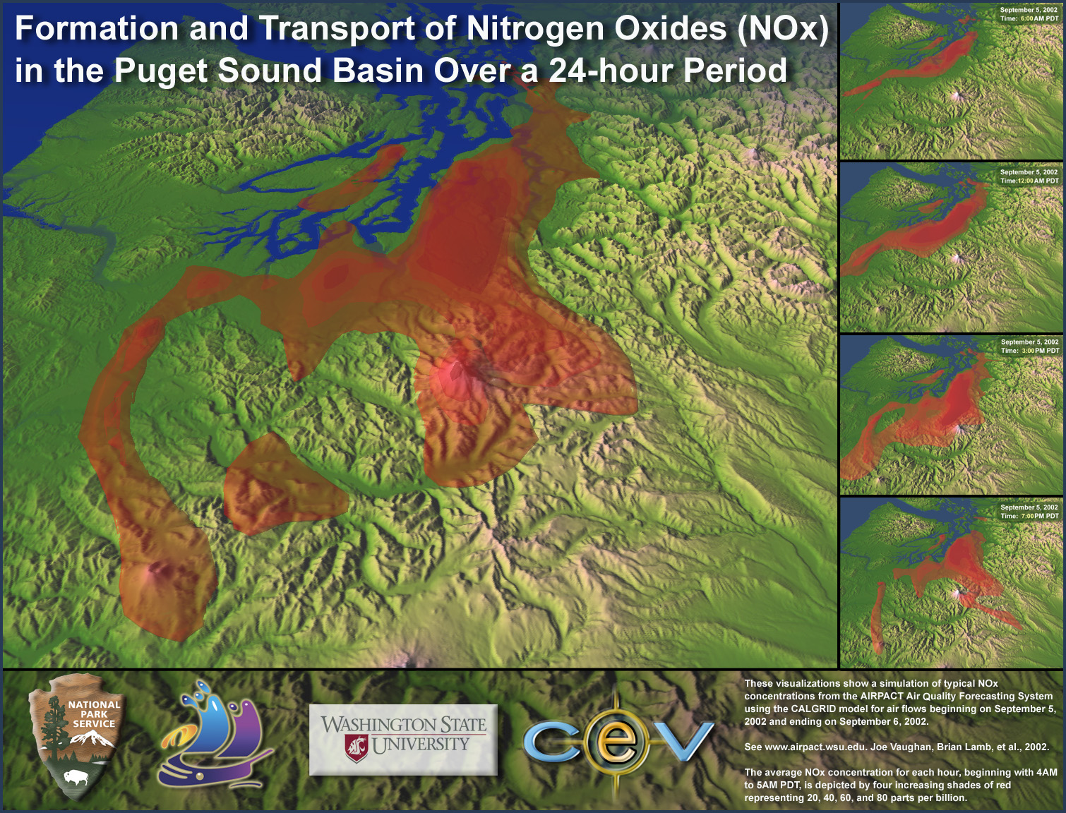 Formation and transport of Nitrogen Oxides