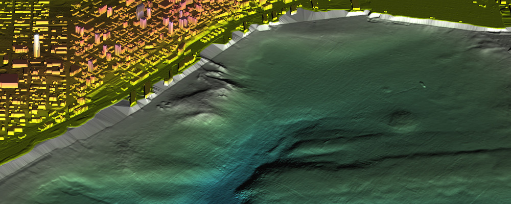 Elliott Bay Topography