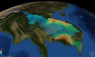 Mekong COVE Visualization VIC Annual Precipitation