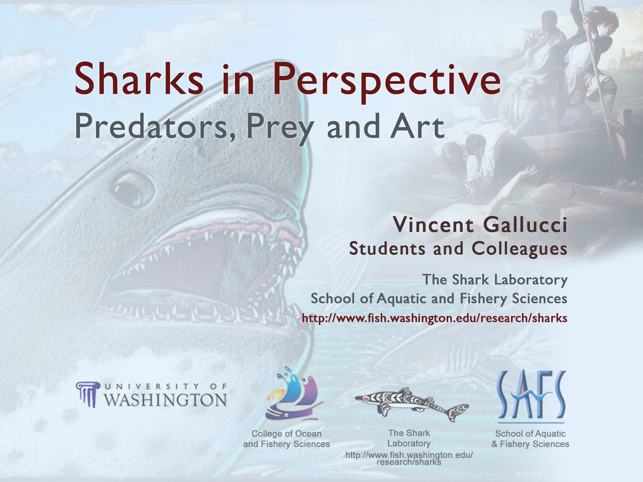 Sharks in Perspective Presentation Title Slide